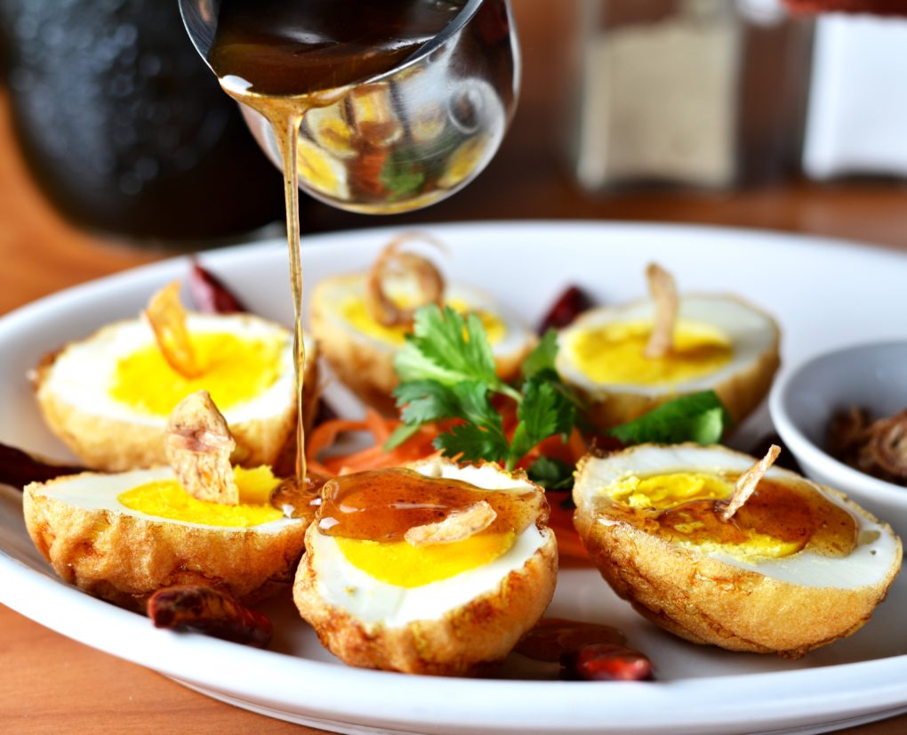 Thai Hard Boiled Eggs Dish