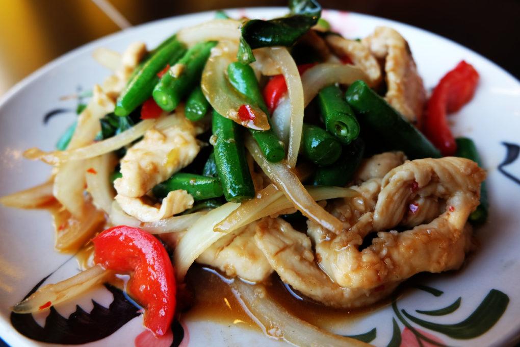 Pad Horapa Basil Thai Dish