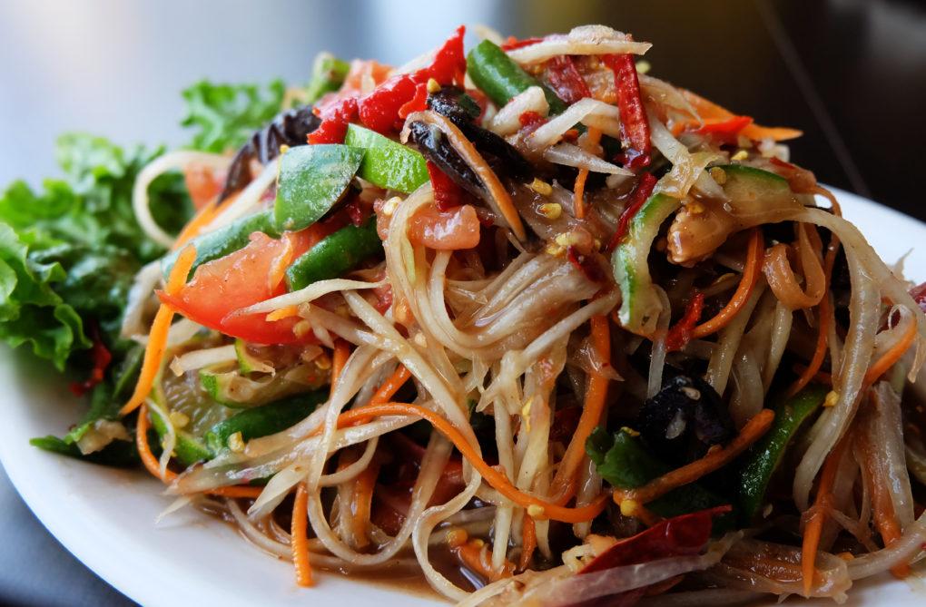 Tum Puu Plah Rah Thai Salad