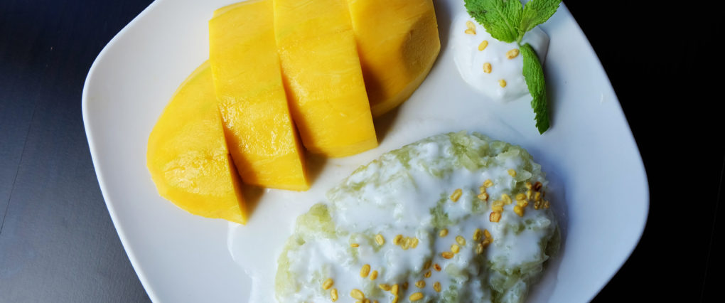 Mango Sticky Rice Thai Dessert